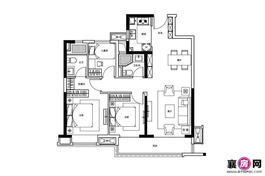 B户型  3室2厅