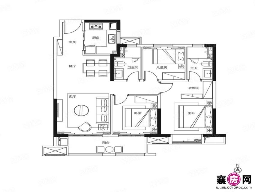 108户型   3室