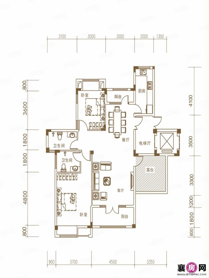 E户型洋房  2室