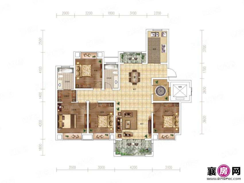 洋房C户型  4室