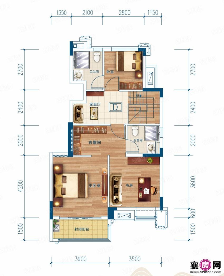 D户型   4室3厅