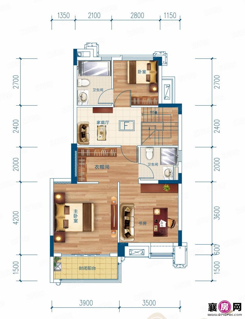 F户型  4室3厅