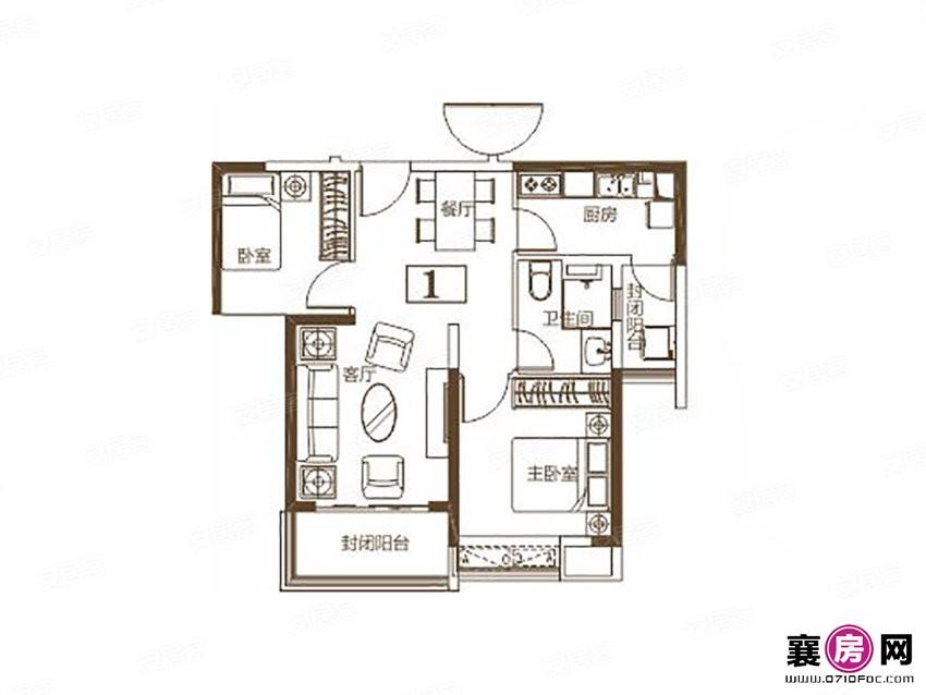 4#1户型   2室2厅