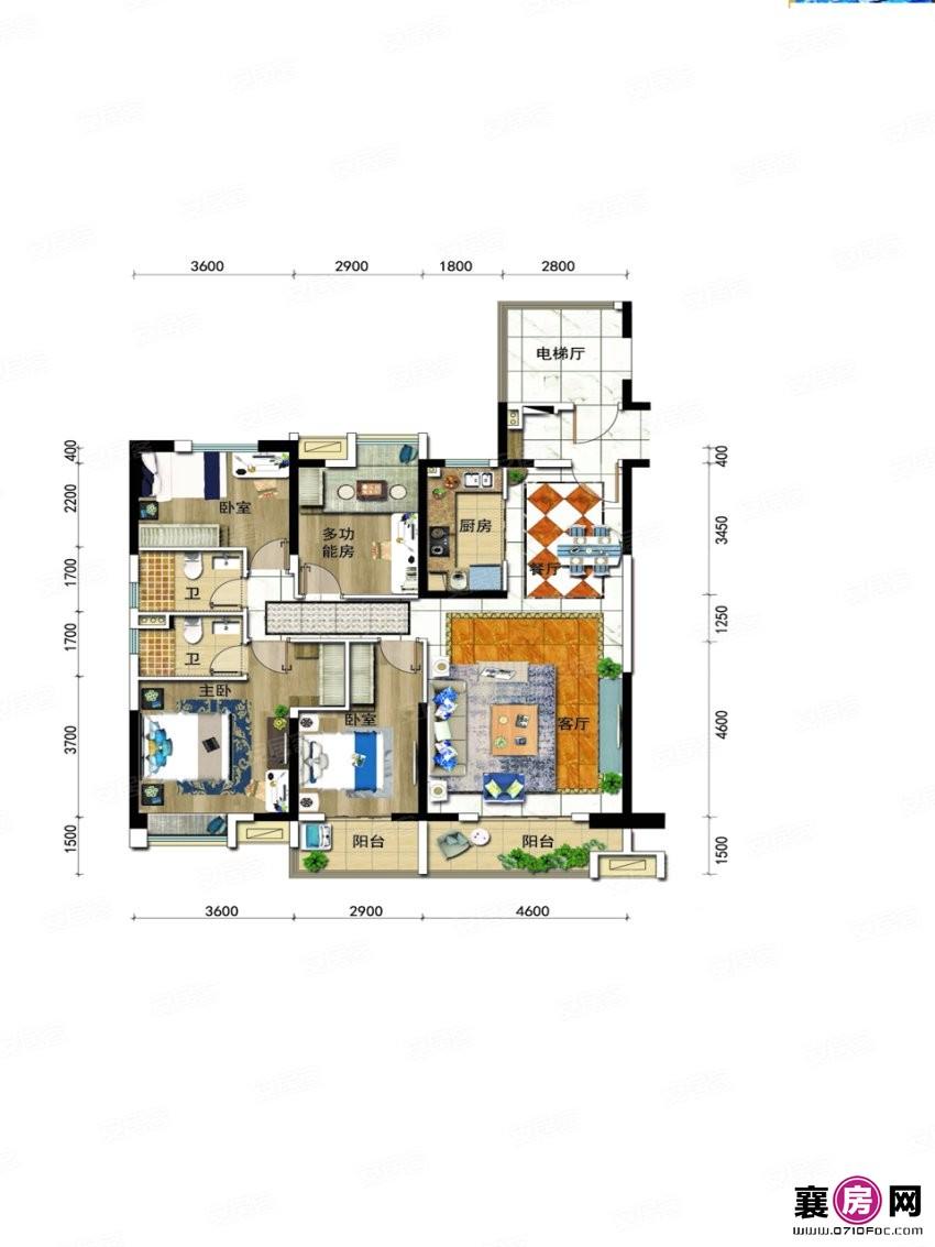 户型2   4室2厅2卫