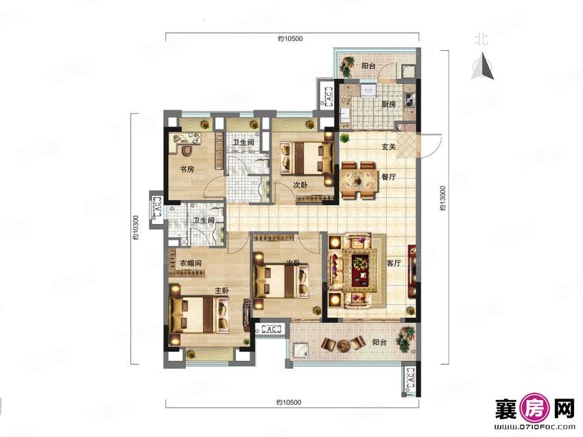 博达C户型  4室2厅2卫